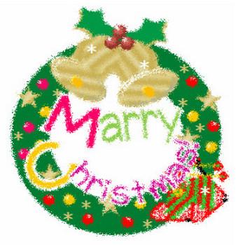 クリスマスリースイラスト♪:毎日が、笑顔で元気♪