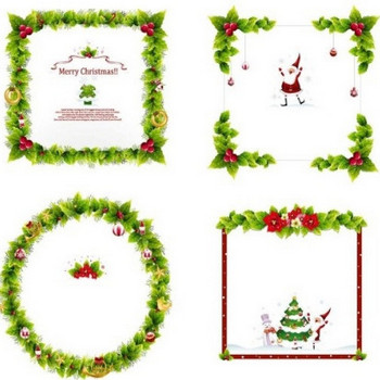 4 christmas wreath border vector Free vector in Adobe Illustrator ai ( .ai ) vector illustration graphic art design format format for free download 10.68MB