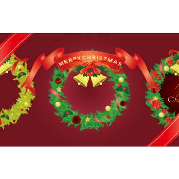 クリスマスリースのイラスト - 無料の可愛いデザイン素材 - チコデザ