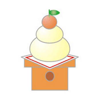 わん太のパソコン ハガキ 無料年賀状素材集 鏡餅