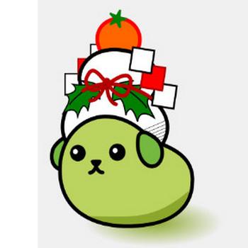 [年賀状]豆しばイラスト 鏡餅バージョン /AGPP