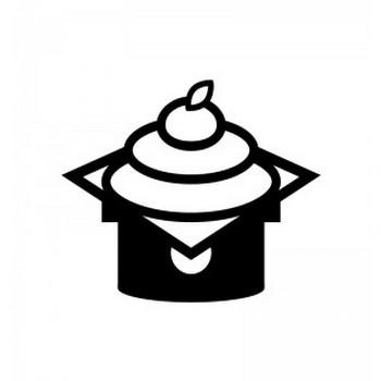 鏡餅のシルエット   無料のAi・PNG白黒シルエットイラスト