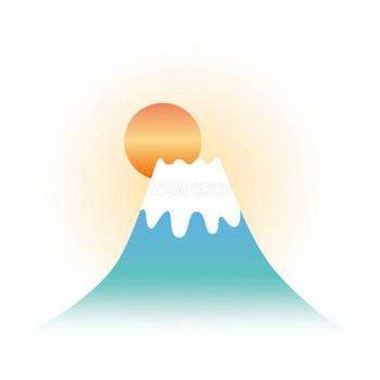 初日の出と富士山 無料イラスト81711 | 商用可のイラスト素材Good