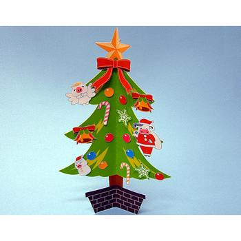 クリスマスツリーのペーパークラフトが無料でダウンロード:肉の万世