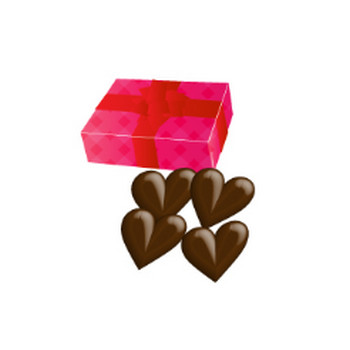 バレンタイン/チョコの無料イラスト
