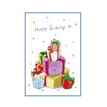 誕生日のお祝いはがきテンプレート かわいい無料ポストカードテンプレート はがき絵箱