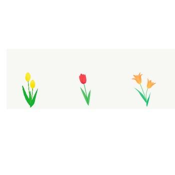 チューリップ: 素材庭園(フリーイラスト素材集) ~花・動物・食べ物・人物・雑貨他
