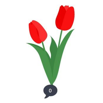 チューリップの花のイラスト | 無料イラスト素材集|Lemon