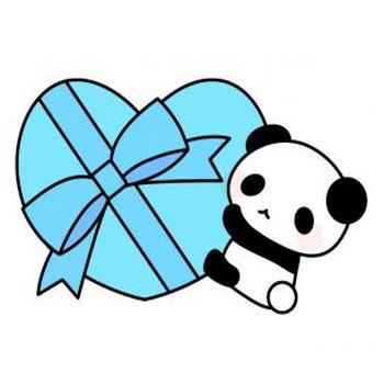 ホワイトデー・パンダのフリーイラスト