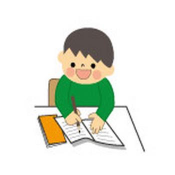 勉強のイラスト・男の子/無料イラスト・フリー素材