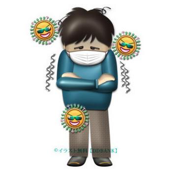 インフルエンザの症状・寒気 | イラストが無料の【DDばんく】