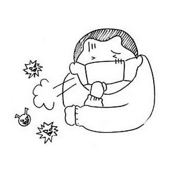 日本語教育のためのイラスト教材 ② 風邪です