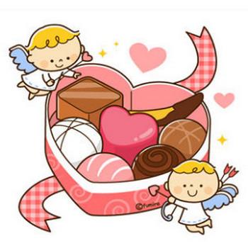 【クリップアート】バレンタイン・ハート型のチョコレートと天使のイラスト : 子供と動物のイラスト屋さん(イラストレーターわたなべふみ)のブログ