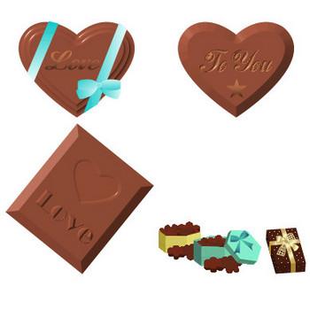 2月バレンタイン、チョコレートの素材-イラスト・アイコン フリー素材