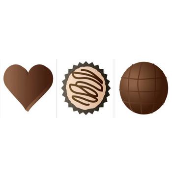 可愛いチョコレートのイラスト - 美味なお菓子の無料素材 - チコデザ