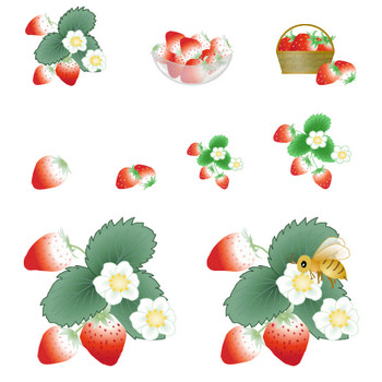 苺・いちごイラスト素材、いちごの花素材-アイコン・イラスト 無料・フリー素材