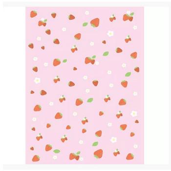 背景画像 ピンク色のイチゴ柄(カラー) – 無料で使えるイラスト素材・PowerPointテンプレート配布サイト【素材工場】