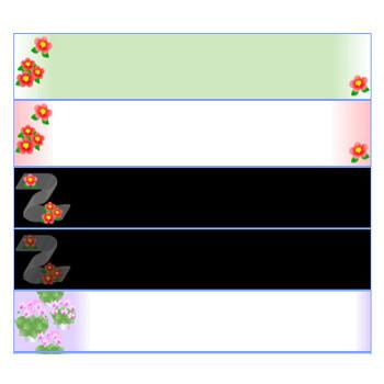 冬の花素材(椿、シクラメン)イラスト・背景~フリー素材