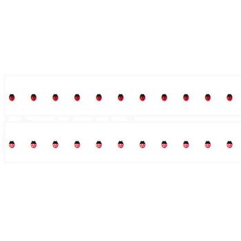 てんとう虫のイラストライン | 罫線・飾り罫ライン素材 FREE LINE DESIGN