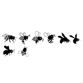 ミツバチ   シルエットデザイン
