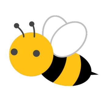 ミツバチのシンプルイラスト <無料>   イラストK