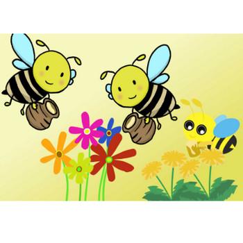 蜂のイラスト - 可愛い手書きのミツバチの無料素材 - チコデザ