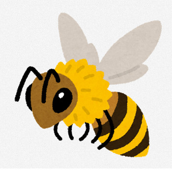 ミツバチのイラスト   かわいいフリー素材集 いらすとや