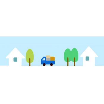 » 引越しトラックのイラスト / 転勤・転居・移転通知葉書にシンプル挿絵 | 可愛い無料イラスト素材集
