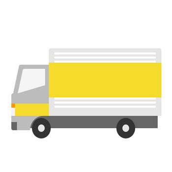 トラックのイラスト(引っ越しのサカイ風) | 無料フリーイラスト素材集【Frame illust】