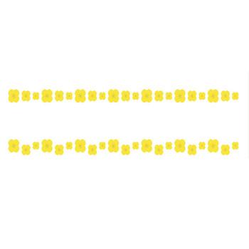 菜の花のライン飾り罫線イラスト | 無料フリーイラスト素材集【Frame illust】