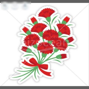カーネーションの花束|テンプレートのダウンロードは【書式の王様】