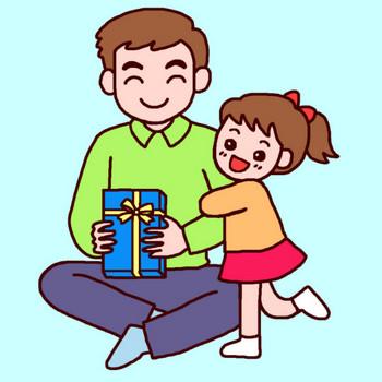おとうさんありがとう(カラー)/父の日の無料イラスト/6月の季節・行事素材