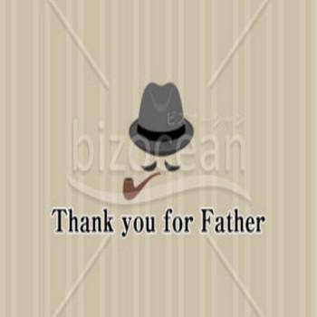 カッコイイ父の日のメッセージカード|テンプレートのダウンロードは【書式の王様】