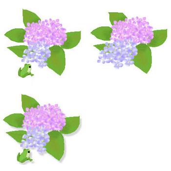 梅雨(紫陽花イラスト素材2