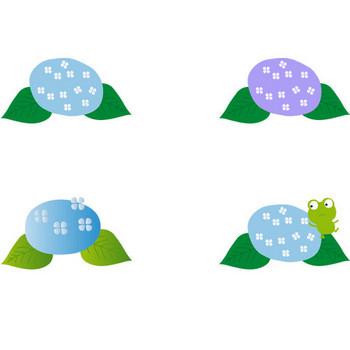 梅雨 紫陽花のイラスト/無料素材