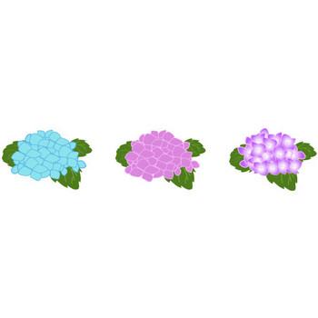 イラスト あじさい・梅雨 フリー素材 by i_caffe