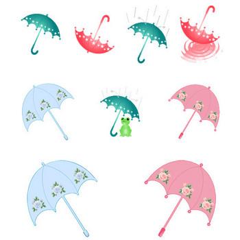 傘のイラスト(梅雨素材)~フリー素材