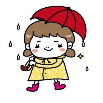 梅雨のかわいい無料イラスト集/白黒・カラー [Web素材] All About