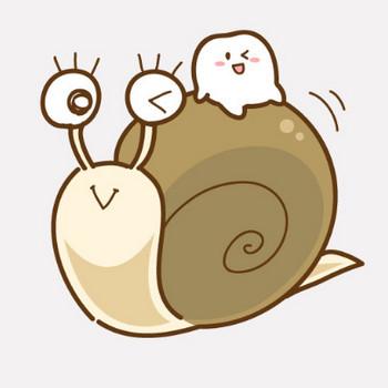 カタツムリに乗る歯のキャラクター|フリー歯科イラスト【歯科素材.com】