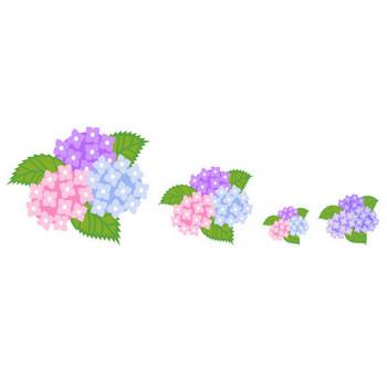 フリー素材・無料イラスト「ふぁんし~・ぱ~つ・しょっぷ」-季節・イベント-梅雨のイラスト(雨/傘/アジサイ)