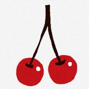 さくらんぼ・チェリーのイラスト(フルーツ) | かわいいフリー素材集 いらすとや
