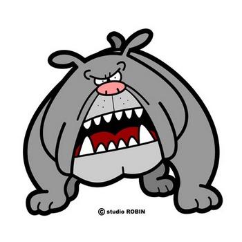 フリー素材710 猛犬注意!! ♪