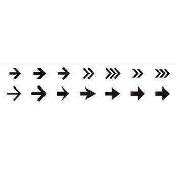 矢印素材その1 | シルエットデザイン
