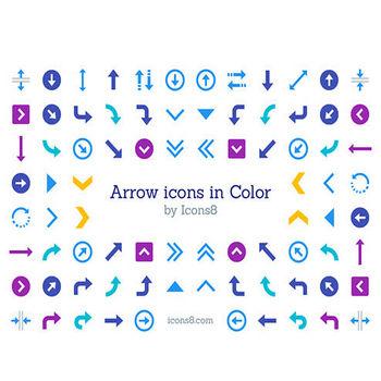 矢印のシンプルなデザインが豊富に揃ってる!商用利用無料、使い勝手がいい矢印・アローのアイコン素材 | コリス