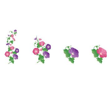 無料素材の『季節・行事素材のイラスト市場』夏素材・朝顔(あさがお)のイラスト