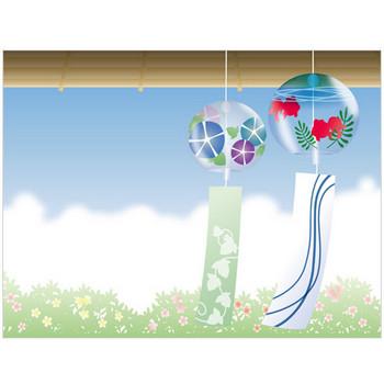 ガラスの風鈴 - 素材【イラスト】 - 彩クリWEB