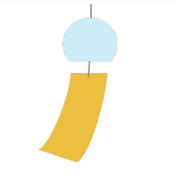 風鈴のシンプルイラスト <無料> | イラストK