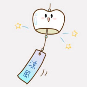 風鈴|フリー歯科イラスト【歯科素材.com】