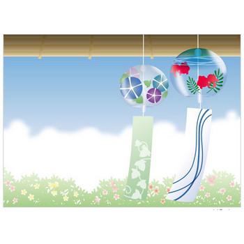 ガラスの風鈴 - イラスト - 彩BOX.com