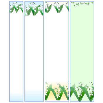 春の花、すずらん・スズラン・鈴蘭の素材【イラスト・背景】~HPフリー素材